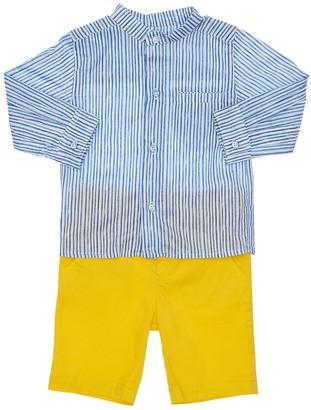 Yellowsub Cotton Poplin Shirt & Stretch Shorts