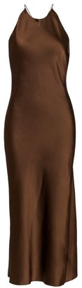 Rosetta Getty Cross Back Bias Slip Dress