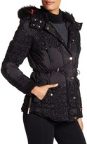 Desigual Faux Fur Trim Coat