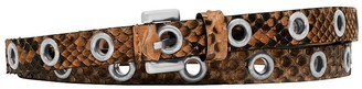 Michael Kors Double-Wrap Grommet Python Belt
