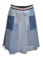 Simeon Farrar Denim Patch Skirt