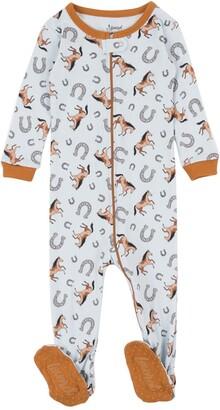 Leveret Blue Horse Footed Sleeper Pajama