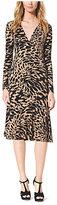 Michael Kors Ikat-Print Stretch-Jersey Wrap Dress
