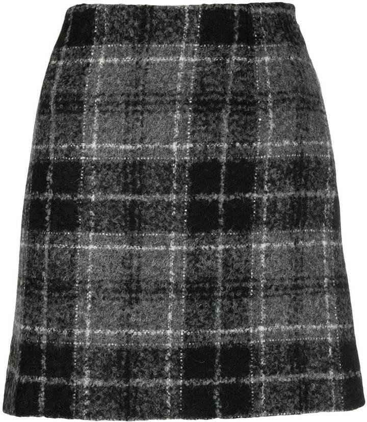 Fay plaid mini skirt