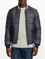 Fred Perry Lavenham Quilted Bomber Jacket, Navy