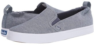 Keds Darcy Slip-On Chambray (Blue) Women's Shoes