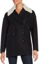 Andrew Marc Wool-Blend Sherpa Collar Coat