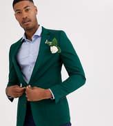 Asos Design ASOS DESIGN Tall skinny cotton blazer in green