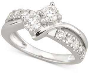 Two Souls, One Love Diamond Two-Stone Engagement Ring (1-1/2 ct. t.w.) in 14k White Gold
