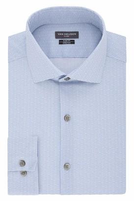 Van Heusen Men's Dress Shirt Flex Collar Stretch Slim Fit Print