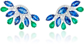 Sutra Sapphire and Emerald Stud Earrings