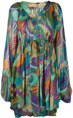 Alberta Ferretti Geometric Print Mini Dress