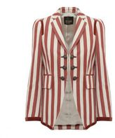 Roberto Cavalli Striped Fitted Blazer
