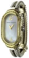 David Yurman 18K Yellow Gold & 925 Silver with Custom Diamonds 19.5mm Womens Watch
