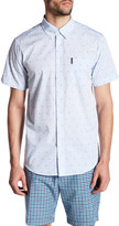 Ben Sherman Short Sleeve Fleur de Lis Trim Fit Shirt
