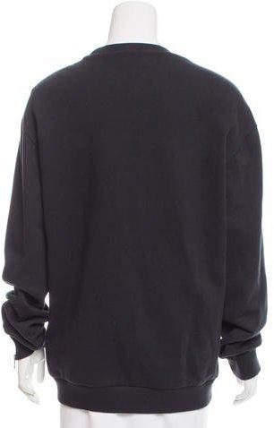 3.1 Phillip Lim Leather - Trimmed Oversize Sweatshirt