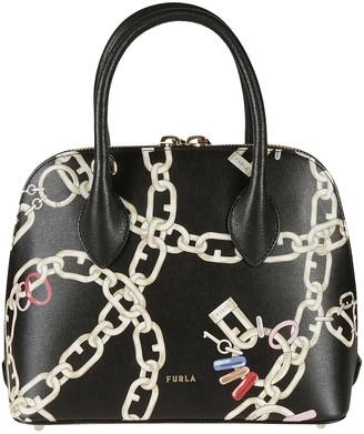 Furla Double-zip Chain Printed Tote