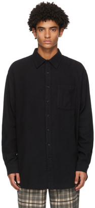 Schnaydermans Black Twill Flannel Non-Binary Shirt