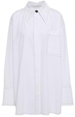 Marni Embroidered Cotton-poplin Shirt