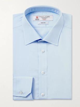 Turnbull & Asser Blue Cotton Shirt
