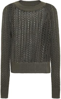 Equipment Open-knit Cotton-blend Sweater