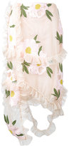 Simone Rocha floral embroidered frill skirt - women - Polyester/Viscose/Polybutylene Terephthalate (PBT) - 6