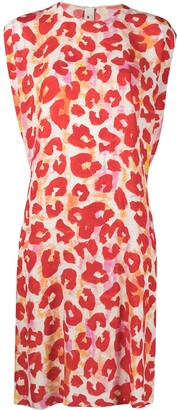 Marni Leopard Print Shift Dress