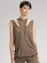 Sleeveless Double-Layered Silk Top