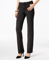 Charter Club Petite Faux-Leather-Trim Straight-Leg Ponte Pants, Only at Macy's