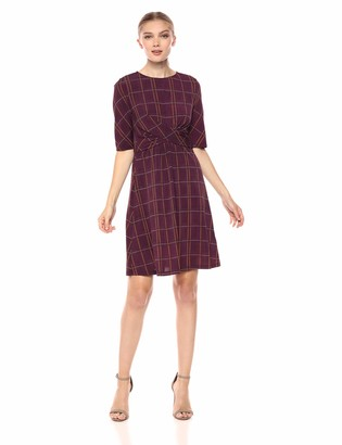 Donna Morgan Women's Twist Front Jersey Dress