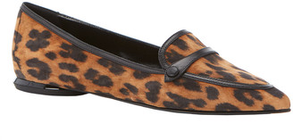 Marion Parke Natalie Leopard-Print Flat Loafers