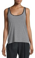 ATM Anthony Thomas Melillo Striped Racerback Tank, Black/White