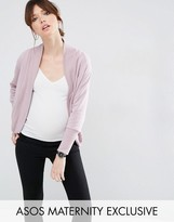 Asos LOUNGE Sweat Cardigan with Rib
