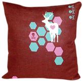 Deer You Pillow in Mocha