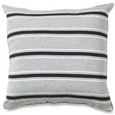 Glen Cove Black Stripe Square Toss Pillow
