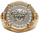 Versace Gold and Silver Medusa Ring