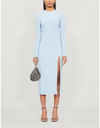 David Koma Diamante-embellished crepe mini dress