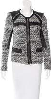 IRO Leather-Trimmed Bouclé Jacket
