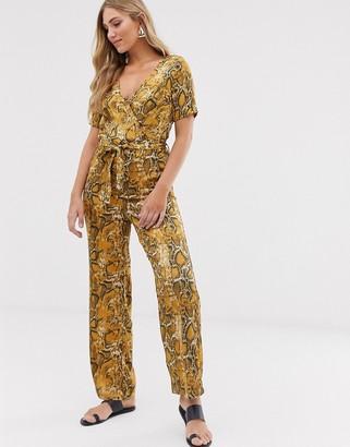 Vila snake print jumpsuit