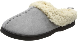 Dearfoams Womens Microsuede Clog with Whipstitch and Memory Foam Low-Top Slippers