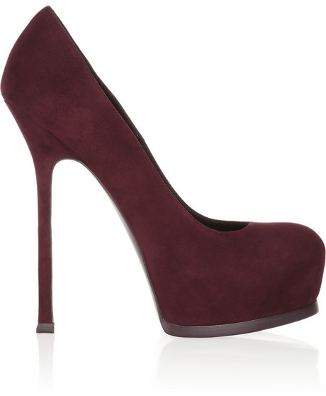 Saint Laurent Tribute Two suede pumps