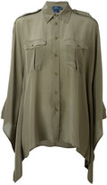 Polo Ralph Lauren flared trim shirt - women - Silk - XS