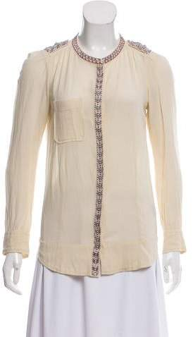 Etoile Isabel Marant Embroidered Button-Up Blouse