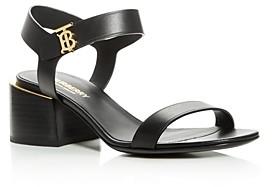 Burberry Women's Hollywell Block-Heel Sandals