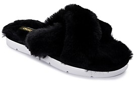 Dolce Vita Women's Pillar Faux Fur Slippers