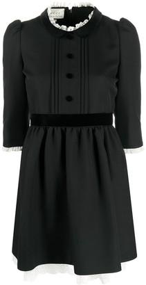 Gucci Lace Trim Mini Dress