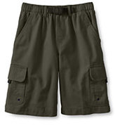 Lands' End Boys Cargo Climber Shorts-White