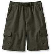 Lands' End Little Boys Cargo Climber Shorts-Expedition Green