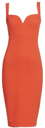 Victoria Beckham Cami Sleeveless Fitted Midi Dress