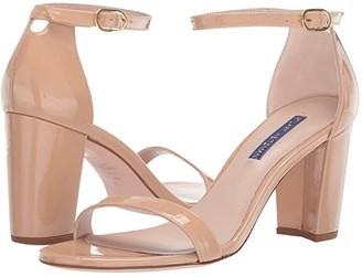 Stuart Weitzman Nearlynude Ankle Strap City Sandal (Black Suede) Women's Shoes